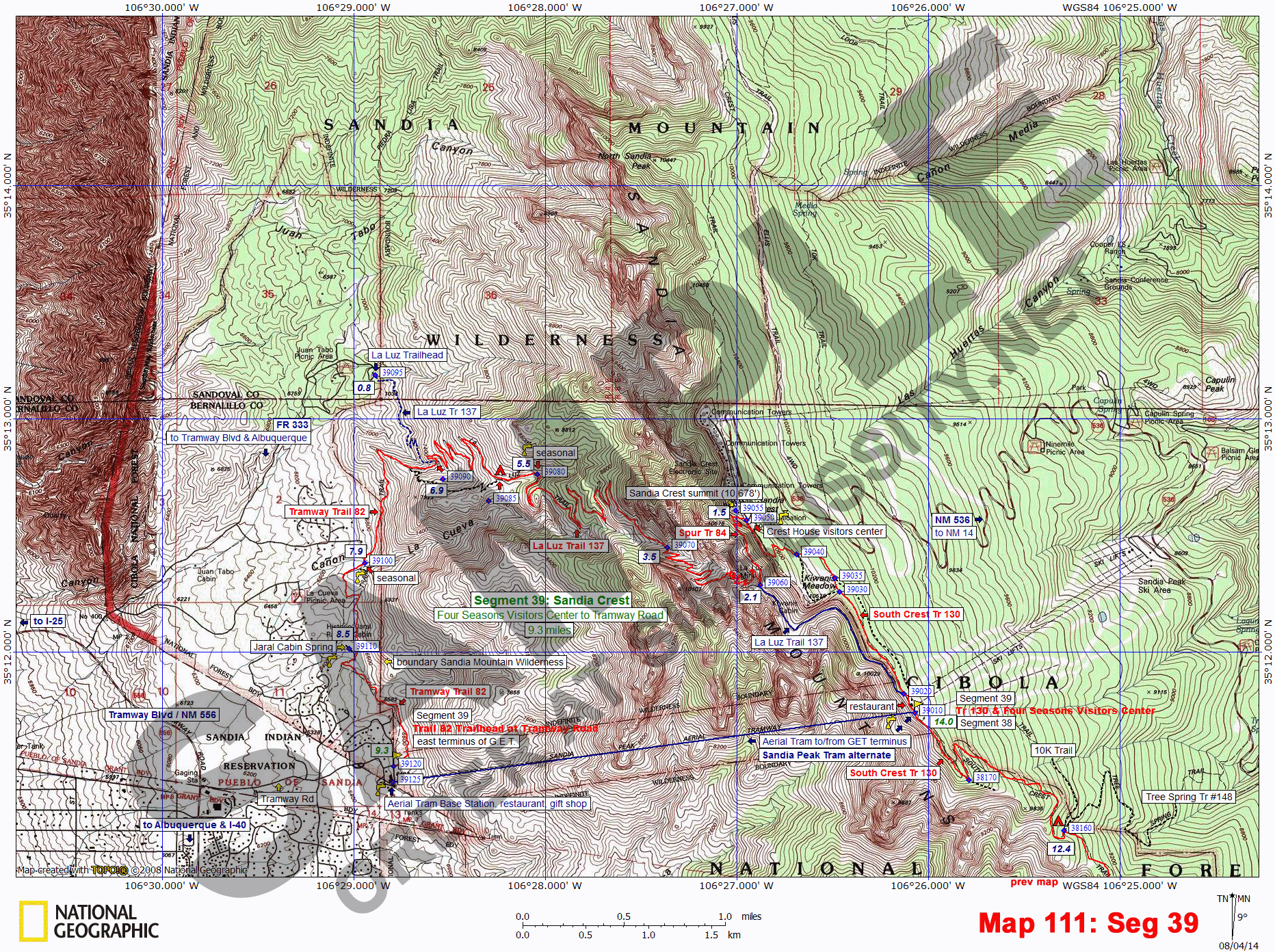 Grand Enchantment Trail Topo Map Set