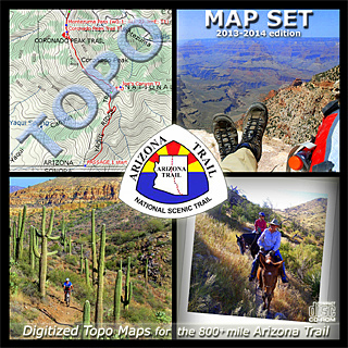 Arizona Trail Topo Map Set